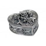 Dacapo smyckeskrin - hjärta med rosdekor