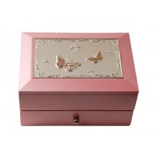 Dacapo smyckeskrin - rosa trä med låda
