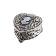 Dacapo smyckeskrin - hjärta med cameo