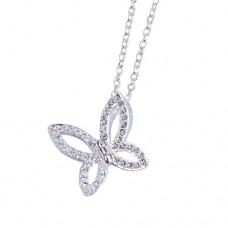 Silver Halsband - Vikbar Fjäril